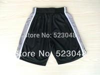 Men Basketball Shorts San Antonio 9 Parker 20 Ginobili 21 Duncan White Black Brand new material Shorts.size S-XXL