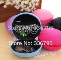 Free Shipping spherical with rope earphones storage box earphones package