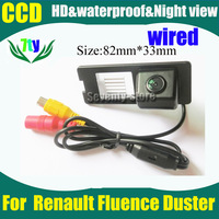 CCD HD wired car parking rear view camera for Renault Fluence 2011 car reverse reaview camera  520TVL Waterproof