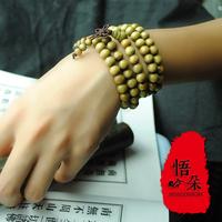 National accessories colorful sandalwood beads bracelet lawngreenlawngreen rosary handmade multi-layer bracelet female 20019