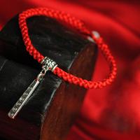 Knitted diy handmade jewelry original design national trend male Women red string lovers bracelet 24020