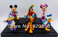 Mickey / Minnie / Donald Duck/ Daisy Duck 6 pcs Figures PVC