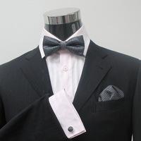 Set bow tie pocket towel cufflinks set bow tie male tie gown a-215 collar belt