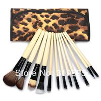 hot 12 pcs pro Goat hair makeup brushes,makeup tools freeshipping