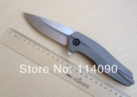 Free Shipping 100% A DAI brand ZT0888 ZT 888 style Titanium Alloy handle CPM-S35VN steel blade Tactical Flipper folding knife