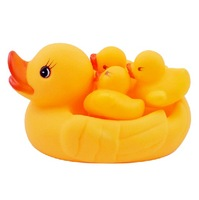 Cute1 Mother & 3 yellow rubber ducks Duckling Sounding Swimming Animals Toys for Kids Children as Gifts Drop shipping