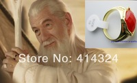 lord of the Rings Hobbit Gandalf Magical Ring Power Narya Ring Gold Plated ring