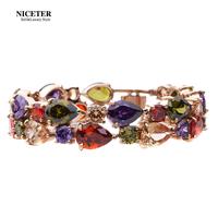 Zircon mona lisa bracelet female fashion multi-layer bracelet day gift