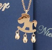Rose gold necklace fashion female short design pendant bell necklace