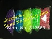 glow in the dark   loom bands colorful DIY bracelet Rubber refill bag  100bags/lot
