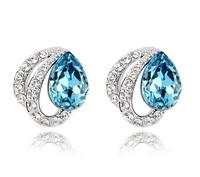 Austria crystal stud earring female fashion birthday gift