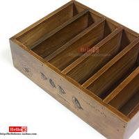 Zakka vintage wool solid wood box sundries storage box cd storage rack