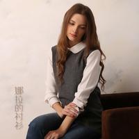 2014 Autumn Hot Sale New Fashion Pure Color Women Blouse O-neck Pullover Shirt Plus Size Women Blouse