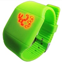 Free shipping, Ultra-thin gift touch screen led watch touch child lovers table digital jelly
