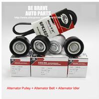 Chery, A5, A3, Tiggo, Eastar engine parts (484/481 engine) Alternator belt, alternator pulley, alternator idler