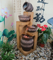 Large fashion water fountain home balcony decoration rockery decoration crafts