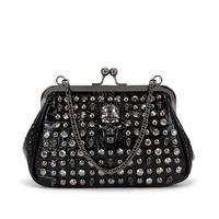 NEW ARRIVAL Fashion clutch bag punk vintage casual commercial rivet chain women's handbag