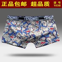 Doraemon cartoon print fashion male panties 100% men's trunk personality cotton boxer shorts trousers x