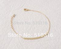 2015 New Bar Bracelet 18K Gold/Rose Gold/Silver Curved Bracelet