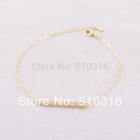 2015 Fashion Bar Bracelet 18K Gold/Silver Square Bracelet For Women And Girl
