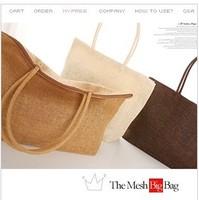 2014 women's handbag super large capacity beach bag woven bag straw bag rattan bag