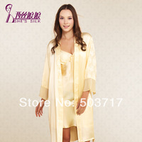 2014 NEW STYLE 100% mulberry silk lady  sexy   pajamas sets  9108