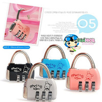Cartoon lock padlock small suit luggage backpack alloy lock mini  cabinet lock free shipping