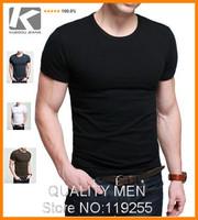 Wholesale brand 2014 NEW fashion O-neck t shirt men t shirt ,SHORT man tshirts, round neck T shirts, men shirt  In Stock
