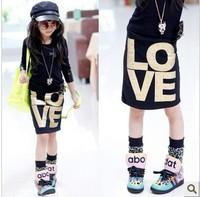 wholesale(5pcs/lot)-2015 spring autumn love letter elastic skirt