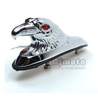 BJ-LPL-021 Chrome Eagle Head Ornament Statue For Motorcycle motorbike ATV  Front Fender  Frames & Fittings Car Bonnet