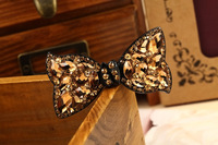 Classic hot-selling hair accessory hair accessory bow clip multi-colored acrylic spring clip