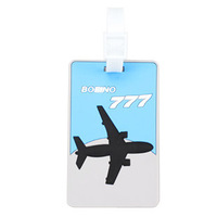 Wholesale (10Pcs/lot) 10.5cm*6.5cm Soft Eco-friendly PVC Airplane Travel Luggage Tags, Traveling Accessories