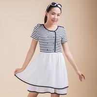 2014  summer New style dress Summer high Waist Casual Dress Women Knee Length  dress(TGX1408207C)