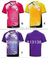 Free to Print Your Name and Logo 1 set  breathable Korea National Victor Badminton Shirt + shorts Jersey Badminton Clothes pants