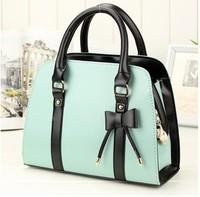 Hot Casual  candy color block handbag shaping one shoulder cross-body white women's handbag women's bags