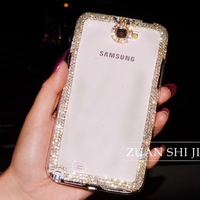 For samsung   s4 rhinestone phone case i9300 mobile phone case protective case note3 note2 shell female