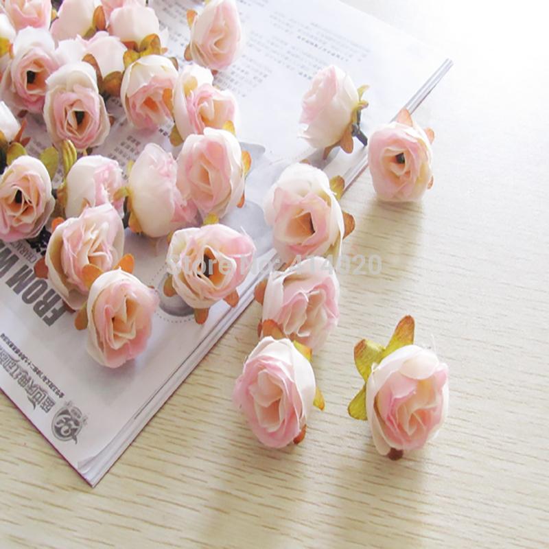 Wedding Car Decoration Diy : Silk rose flower head decoration handmade diy wedding car artificial