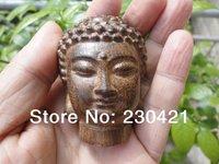 Free shipping Vietnamese agarwood Sakyamuni Buddha head wood playing pieces small  wooden ornaments home