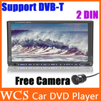 "Free Rear Camera,2 Double Din 6.2""Car DVD Player, WinCE6.0 Car Stereo Radio With Navitel GPS +SD/USB,steering wheel Car Styling"