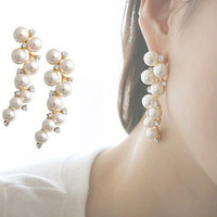 Boutique drop earring earrings pearl drop earring rhinestone drop earring free shipping