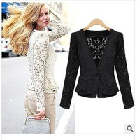 European style women's fashion lace hollow out Jackets free shipping Hot sale 1WT24