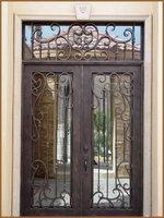 ETN D1004 double entrance doors wrought iron door  entry gates