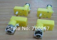 4pcs Single shaft Robot TT Motor gear motor dc motor gear case for arduino free shipping
