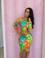 New Fashion 2014 Print Tropical Fling Bandage Bodycon Dress Women Sexy Evening NightClub Party dresses YH020