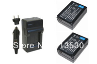 2XBP-1030 BP1040 Batteries and 1X Charger for Samsung ED-BP1030, NX200, NX210, NX300, NX1000, NX1100, NX2000, NX-300M Camera.