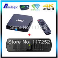 [RC11 Fly Air Mouse] Amlogic XBMC Quad Core Android TV Box M8 Aml S802 2G/8G 2.4G/5G WiFi Mali450 4K Bluetooth DOLBY True HD DTS