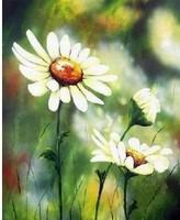 Free shipping DIY Diamond Painting wind daisies resin Rhinestone Diamond Embroidery Needlework Set 49*39cm