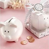 Free shipping Saver Favor Ceramic Mini Piggy Wedding Favor Wedding Gift Baby gift Money Bank baby shower favor