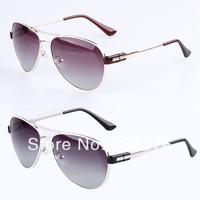 Sunglasses women brand designer vintage metal frame glass lenses polarized glasses fashion ladies sunglasses gafas de sol women