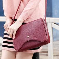 Bags 2014 women's female handbag small bags cross-body litchi Wine women's red